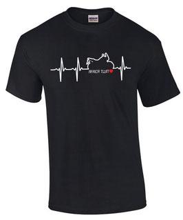 T-Shirt HERZSCHLAG AFRICA TWIN tuning crf 1000 l CRF1000L Teile Zubehör, für Honda Biker