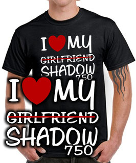 T-Shirt I LOVE MY GIRLFRIEND SHADOW 750 Tuning VT Spirit Teile Zubehör vt750, für Honda Biker