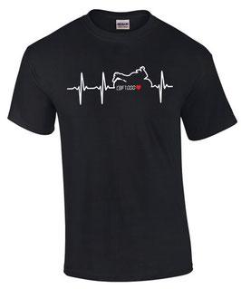 T-Shirt CBF 1000 HERZSCHLAG Tuning Teile Zubehör cbf1000 Motorrad , für Honda Biker