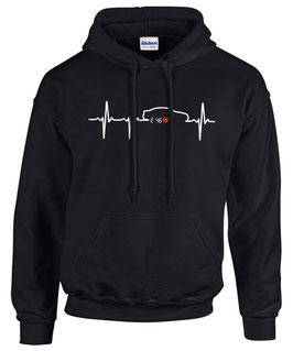 Sweatshirt E46 HERZSCHLAG Tuning Teile Zubehör Auto e 46 3er m 3 m3 Pulli Hoodie, für BMW Dreier