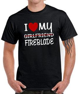 T-Shirt I LOVE MY GIRLFRIEND FIREBLADE Tuning CBR 600 900 1000 1100 rr Teile Zubehör, für Honda Biker