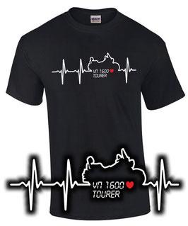 T-Shirt HERZSCHLAG VN 1600 TOURER Tuning Teile Zubehör vn1600 Motorrad, für Kawasaki Biker