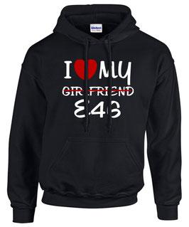 Sweatshirt E46 Tuning Teile Zubehör GIRLFRIEND Auto m3 m 3 e 46 3er Pulli Hoodie, für BMW Dreier