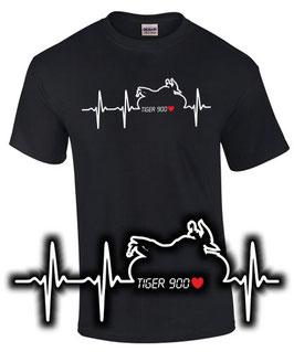 T-Shirt TIGER 900 HERZSCHLAG Tuning Teile Zubehör tiger900 Motorrad, für Triumph Biker