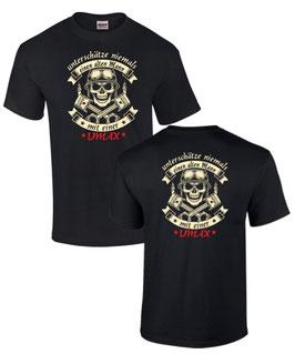 1 x T-Shirt schwarz Gr. M, Aufdruck vorne und hinten, Sonderanfertigung, Alter Mann VMAX