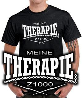 T-Shirt MEINE THERAPIE Z1000 Tuning Teile Zubehör z 1000 , für Kawasaki Biker