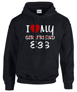 Sweatshirt E36 Tuning Teile Zubehör GIRLFRIEND Auto m3 m 3 e 36 3er Pulli Hoodie, für BMW Dreier