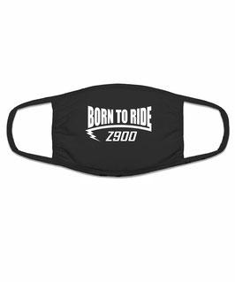 Z 900 Tuning Zubehör Motorrad Biker Mund Nasen Maske Mundschutz Motiv BORN TO RIDE Halstuch Bandana für Z900 Yamaha