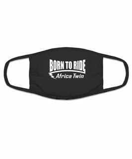 AFRICA TWIN Tuning Zubehör CRF1000L Biker Mund Nasen Maske Motorrad Mundschutz Motiv BORN TO RIDE