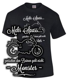 T-Shirt MONSTER MEHR SPAß 696 796 797 821 1200 Tuning Teile Zubehör Motorrad Spruch Motiv, für Ducati Biker