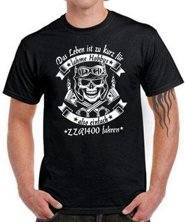 T-Shirt LEBEN HOBBY ZZR 1400 Tuning Teile Zubehör zzr1400 Motorrad , für Kawasaki Biker