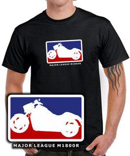 Intruder M1800R Tuning Zubehör T-Shirt MAJOR LEAGUE Motorrad Treffen Motiv m 1800 r , für Suzuki Biker