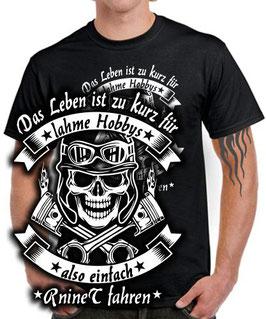 T-Shirt LEBEN HOBBY R nineT fahren Tuning Teile Zubehör pure racer scrambler urban rninet r nine t , für BMW Biker