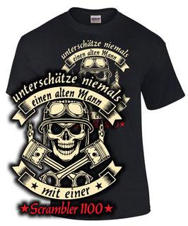 T-Shirt SCRAMBLER 1100 Tuning Teile Zubehör Motorrad ALTER MANN Spruch lustig , für Ducati Biker