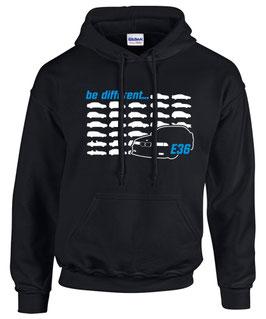 E36 Sweatshirt BE DIFFERENT Tuning Teile Zubehör Auto e 36 3er Pulli Hoodie m 3, für BMW Dreier