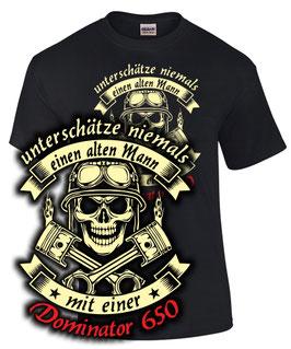T-Shirt NX 650 DOMINATOR T-Shirt ALTER MANN Teile Zubehör Tuning nx650, für Honda Biker