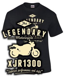 T-Shirt THE LEGENDARY XJR 1300 Tuning Teile Zubehör xjr1300 , für Yamaha Biker