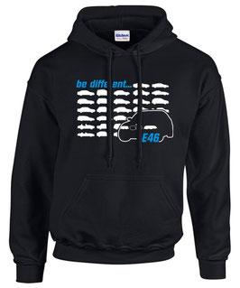 E46 Sweatshirt BE DIFFERENT Tuning Teile Zubehör Auto e 46 3er Pulli Hoodie m 3, für BMW Dreier