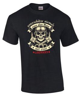 T-Shirt UNTERSCHÄTZE NIEMALS EINEN ALTEN MANN MIT EINER CBR1100XX Tuning Teile Zubehör cbr 1100 xx Super Blackbird, für Honda Biker