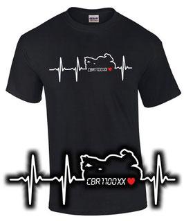 T-Shirt CBR1100XX HERZSCHLAG Tuning Teile Zubehör cbr 1100 xx Super Blackbird, für Honda Biker