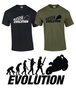 T-Shirt EVOLUTION SUPERBIKE Biker Tuning Motorrad Treffen Moto GP Supersport