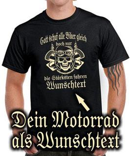 CUSTOM T-Shirt NUR DIE BESTEN FAHREN > MOTORRAD Modell als WUNSCHTEXT !