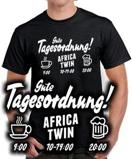 T-Shirt AFRICA TWIN GUTE TAGESORDNUNG Tuning Teile Zubehör crf1000L crf 1000 L, für Honda Biker