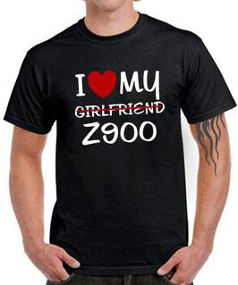 T-Shirt Z900 MY GIRLFRIEND Tuning Teile Zubehör z 900 Motorrad Spruch, für Kawasaki Biker