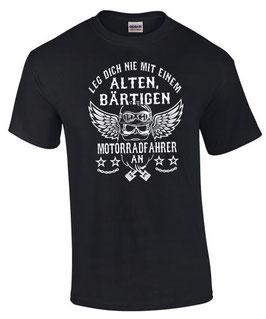 T-Shirt ALTER BÄRTIGER MOTORRADFAHRER Biker lustig Motorrad Spruch