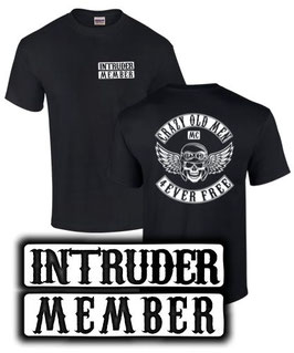 T-Shirt INTRUDER MEMEBR CRAZY OLD MEN MC Tuning Motorad Biker 800 1400 1500 1800 , für Suzuki Fans