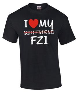 T-Shirt I LOVE MY GIRLFRIEND FZ1 Tuning Teile Zubehör fz 1 biker fazer , für Yamaha Biker