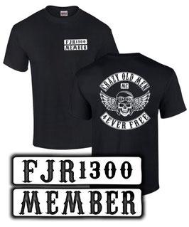 T-Shirt FJR 1300 LCRAZY OLD MEN MC Motorrad Tuning Teile Zubehör fjr1300 , für Yamaha Biker
