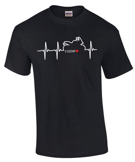 T-Shirt S1000XR HERZSCHLAG Motiv Tuning Teile Zubehör s 1000 xr Motorrad , für BMW Biker