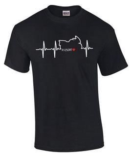T-Shirt R1250RT Tuning Zubehör Teile HERZSCHLAG r 1250 rt r1250, für BMW Biker