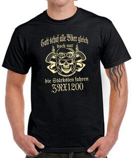 T-Shirt GOTT SCHUF ALLE BIKER GLEICH DOCH NUR DIE BESTEN FAHREN ZRX 1200 Tuning Teile Zubehör Motorrad zrx1200 , für Kawasaki Biker