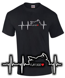 T-Shirt HERZSCHLAG FJR 1300 Tuning Teile Zubehör Racer fjr1300 , für Yamaha Fans