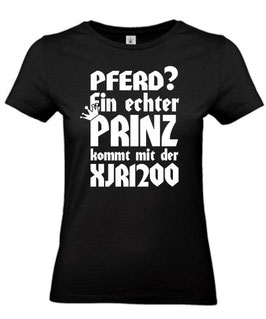 1 x T-Shirt Damen schwarz Gr. S, Sonderanfertigung auf Kundenwunsch PRINZ XJR1200