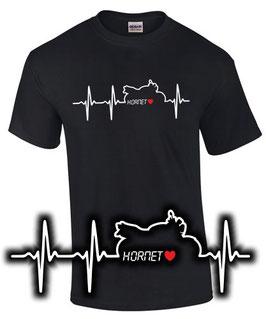 Hornet Tuning Zubehör T-Shirt HERZSCHLAG Motorrad cb 600 f cb 900 f 1000 , für Honda Biker
