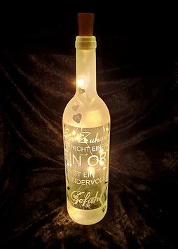 LED Flasche; Ein Zuhause ist nicht nur ein Ort, sondern ein wundervolles Gefühl