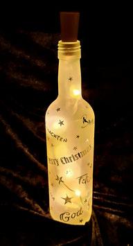 LED Flasche; Weihnachten