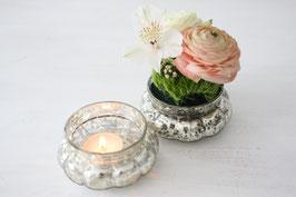 Windlicht / Vase Bauernsilber
