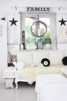 Shabby chic Fensterladen Stern