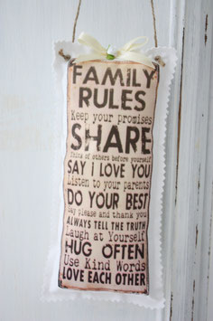 Motiv - Schilder Family Rules