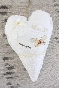 Message Hearts Kissen