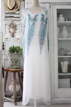 Hippie Kleid lang Seide gemustert