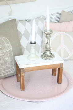 Shabby chic Hocker Hartholz