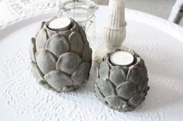 Kerzenhalter Teelicht Shabby chic Beton grau