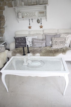 Shabby chic Chippendale Couchtisch