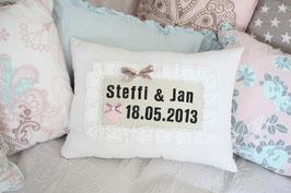 Hochzeitskissen Namen