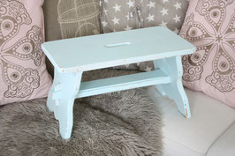 Shabby chic Hocker aqua